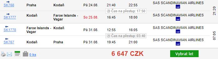 Faerské ostrovy z Prahy za 6 647 Kč