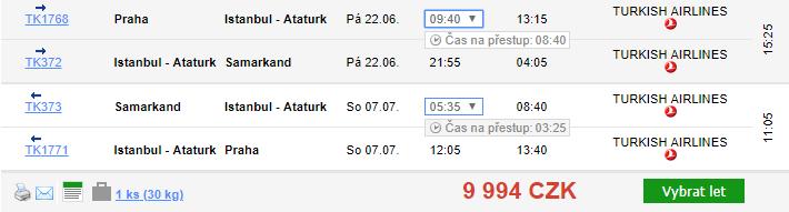 Uzbekistán - Samarkand z Prahy za 9 994 Kč