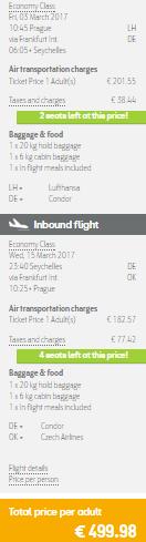 Seychely z Prahy za 13 509 Kč