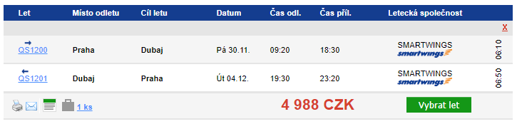 Dubaj z Prahy v listopadu za 4 988 Kč