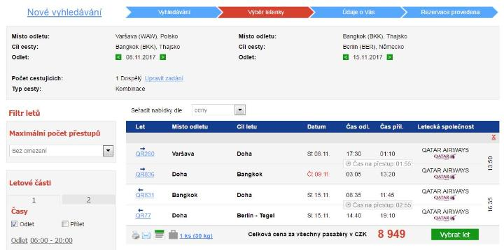 Qatar Airways - JV Asie od 8949 Kč