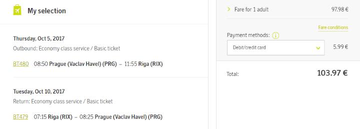 Riga z Prahy za 2 811 Kč