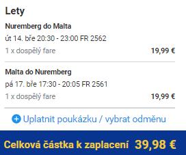 Malta z Norimberku za 1 080 Kč