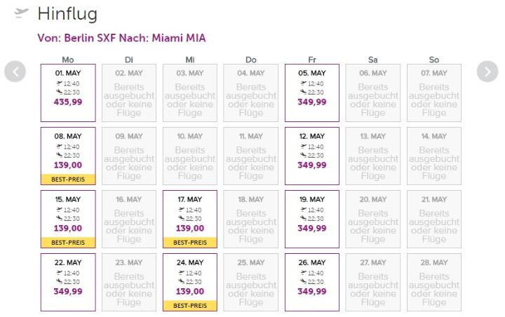 Miami z Berlína za 7672 Kč