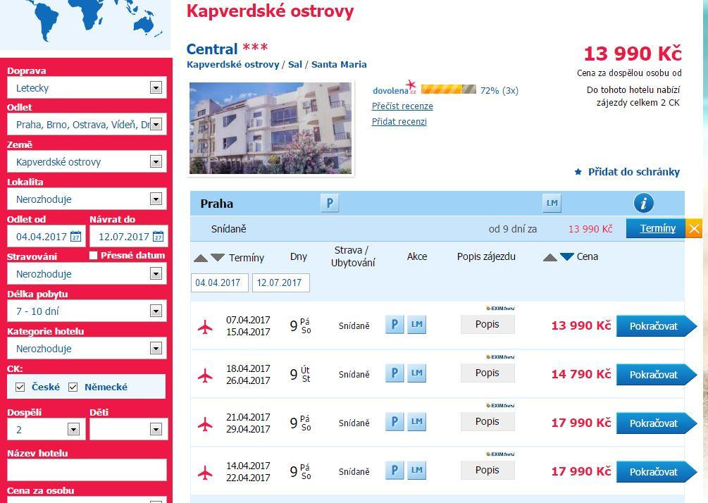 Last minute na Kapverdy - 13 990 Kč