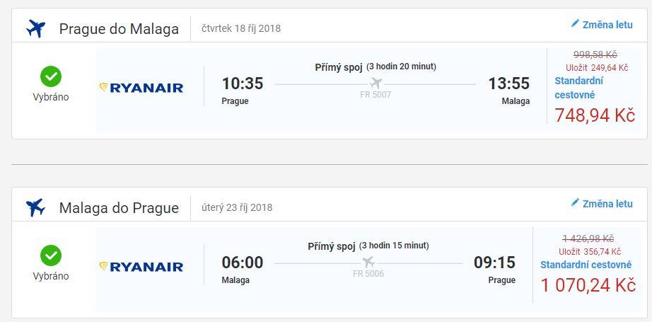Na prodloužený víkend do Malagy za 1 819 Kč
