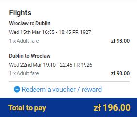 Irsko z Wroclawi za 1 206 Kč