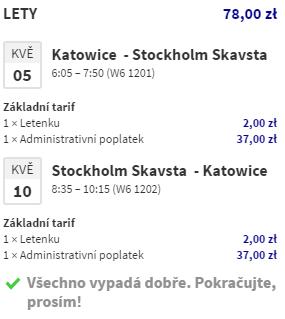 Jarní i letní Stockholm za 488 Kč