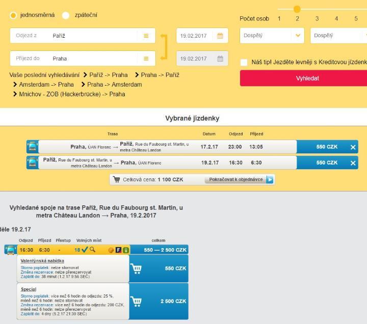 Regiojet: 1+1 jízdenka zdarma