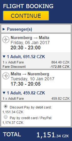 Malta z Norimberku za 1151 Kč