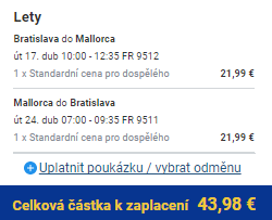 Jarní Mallorca z Bratislavy za 1 116 Kč