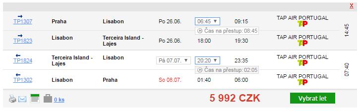 Letní Azory z Prahy za 5992 Kč