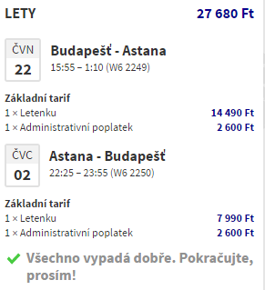 Kazachstán - Astana za 2 380 Kč