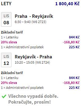 Island - Reykjavík od 1007 Kč