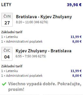 Letní Kyjev z Bratislavy za 1 070 Kč