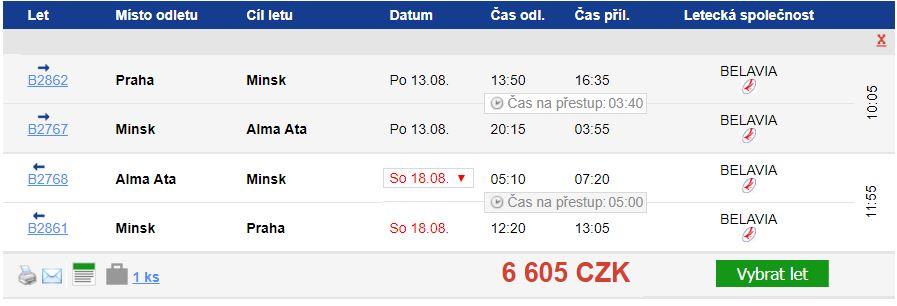 Kazachstán z Prahy za 6 605 Kč