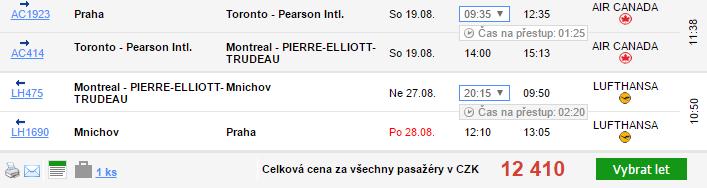 Kanada z Prahy během léta od 11 436 Kč