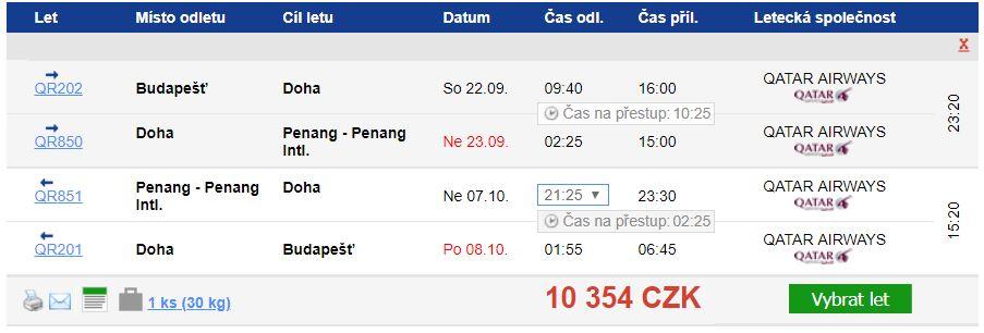 Malajsie - Penang na podzim za 10 354 Kč
