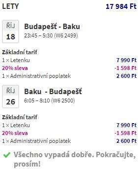 Ázerbájdžán - Baku za 1 546 Kč