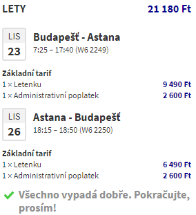 Kazachstán za 1 806 Kč