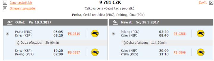 Peking z Prahy za 9 781 Kč