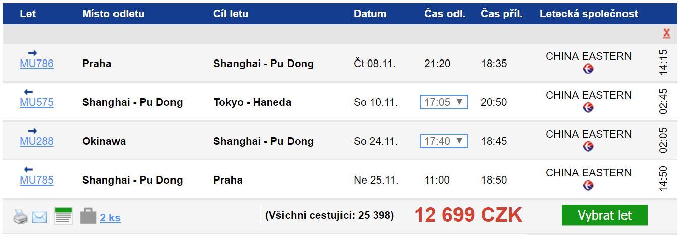Tour de Japan s návštěvou Šanghaje za 12 699 Kč