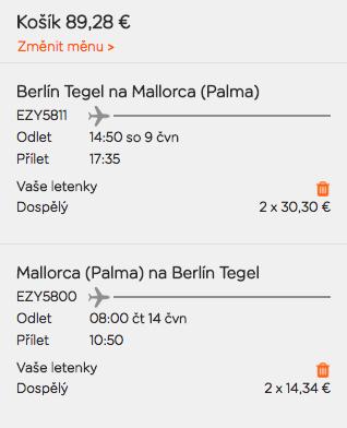 Mallorca v létě z Berlína za 1 135 Kč