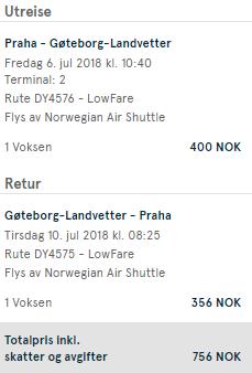 Nová linka: švédský Göteborg z Prahy za 1 988 Kč