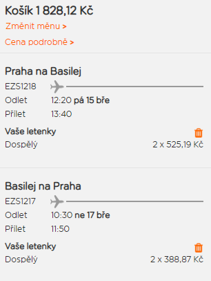 Basilej z Prahy na prodloužený víkend za 914 Kč