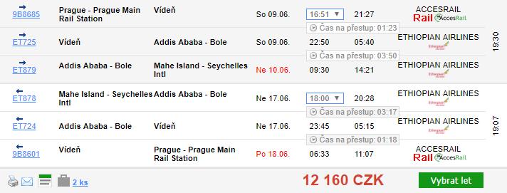Seychely z Prahy i Brna za 12 160 Kč