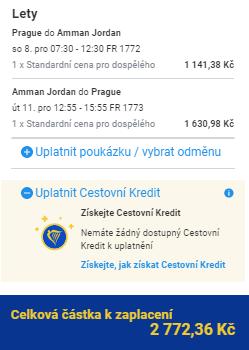 Jordánsko - Ammán z Prahy za 2 772 Kč