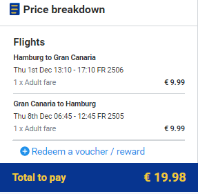 Gran Canaria z Hamburku za 540 Kč