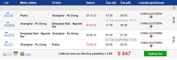 Bali z Prahy za 9 847 Kč