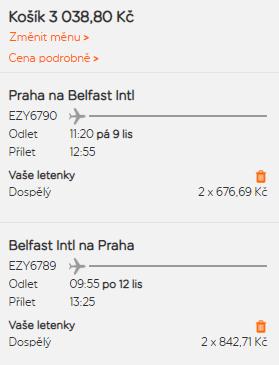 Belfast z Prahy na prodloužený víkend za 1 516 Kč