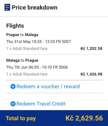 Malaga z Prahy za 2 630 Kč