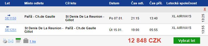 Reunion z Paříže - 12 848 Kč
