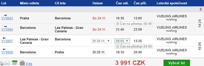 Gran Canaria z Prahy - 3991 Kč