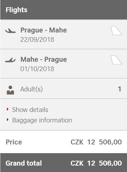 Seychely pohodlně z Prahy za 12506 Kč
