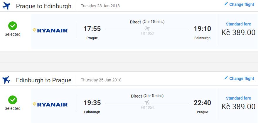Edinburgh z Prahy - 778 Kč