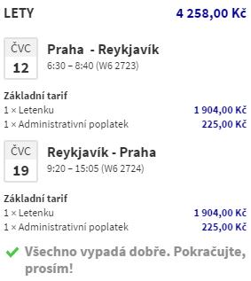 Letní Island z Prahy za 4 258 Kč