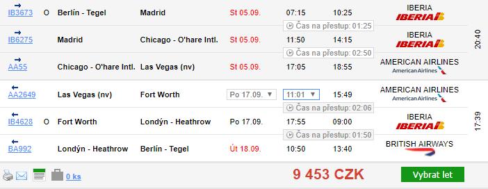 Denver a Las Vegas z Berlína od 9 453 Kč