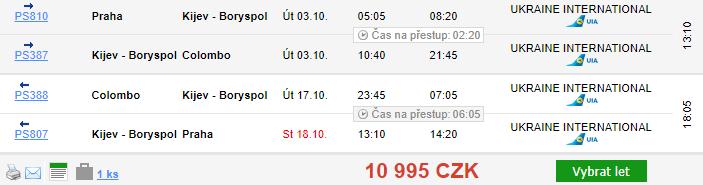 Srí Lanka z Prahy za 10 995 Kč