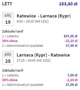 Jarní Kypr z Katowic za 965 Kč