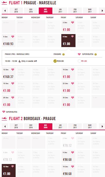 Bordeaux a Marseille z Prahy za 54 Kč