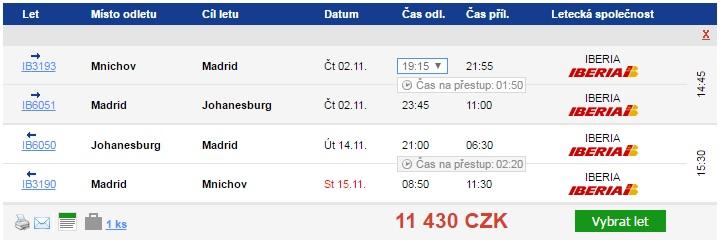Johannesburg z Německa od 11249 Kč