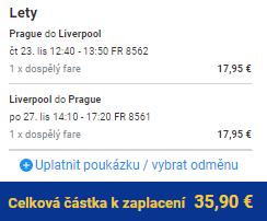 Liverpool z Prahy za 936 Kč