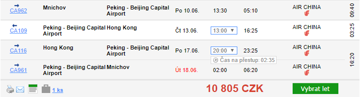 2v1: Hongkong + Peking z Mnichova za 10 805 Kč