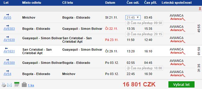 2v1: Galapágy a Ekvádor za 16 810 Kč