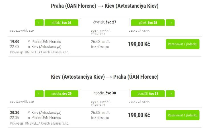 Ukrajina z ČR autobusem za 398 Kč