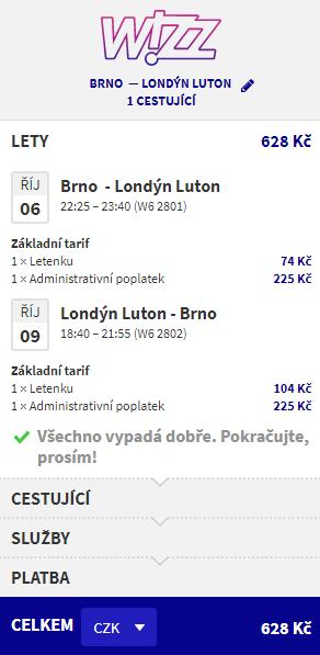 Londýn z Brna či Prahy - 628 Kč